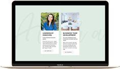 Tropical Squarespace website design inspiration