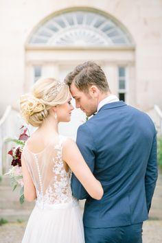 Romantic Marsala + Berry Wedding Inspiration