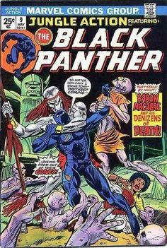 For sale jungle action 9 black panther marvel comics 1972 comic book emorys memories. Avengers Comics, Marvel Comic Books, Comic Books Art, Comic Art, Book Art, Dc Comics, Black Panther Comic, Wakanda Marvel, Thor