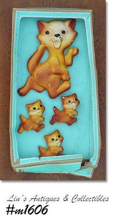 Miller Studio Chalkware Cat Family