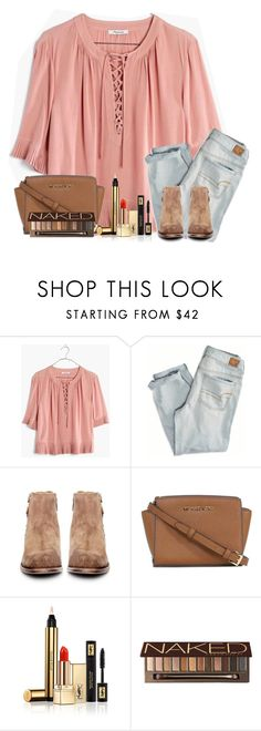 """I love shopping"" by tjrsis ❤ liked on Polyvore featuring Madewell, American Eagle Outfitters, H by Hudson, Michael Kors, Yves Saint Laurent and Urban Decay"