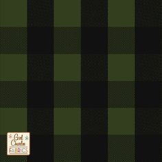 "Black Olive Buffalo Plaid Cotton Spandex Knit Fabric - A Girl Charlee Collection favorite now in a new colorway!  Top quality medium olive green color cotton spandex jersey knit with on trend black buffalo style plaid design.  Fabric is soft, light to mid weight with a nice 4 way stretch.  Plaid repeat measures 5"" as shown, 1"" squares.  A versatile fabric that is great for many uses.  Made in Los Angeles!  ::  $7.50"