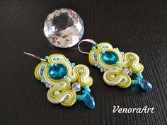 Spring color, soutache earrings 😉