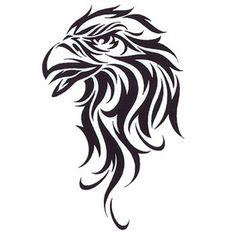 Simple Eagle Tribal Tattoo Design