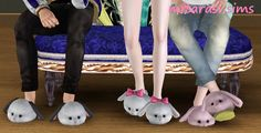 Cute animal slippers fix by Mitarasi - Sims 3 Downloads CC Caboodle