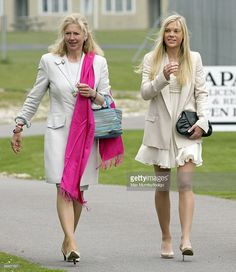 HRH Prince Harry's former nanny Tiggy Pettifer (Legge Bourke) and girlfriend Chelsy Davy attend HRH Prince Harry?s Army Air Corps pilots course graduation ceremony at the Museum of Army Flying on May 7, 2010 in Andover, England.