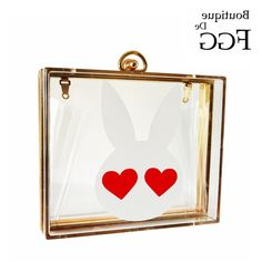 31.58$  Buy now - https://alitems.com/g/1e8d114494b01f4c715516525dc3e8/?i=5&ulp=https%3A%2F%2Fwww.aliexpress.com%2Fitem%2FLove-Eyes-White-Rabbit-Transparent-Acrylic-Evening-Bag-Clutches-Bags-For-Women-Wedding-Party-Metal-Box%2F32771092726.html - Love Eyes White Rabbit Transparent Acrylic Evening Bag Clutches Bags For Women Wedding Party Metal Box Clutch Chain Shoulder Bag