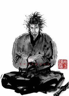 Takehiko INOUE, Japan (El Honor de un Samurai no puede ser cuestionable) Manga Anime, Art Anime, Manga Art, Male Manga, Comic Kunst, Comic Art, Japanese Culture, Japanese Art, Japan Kultur