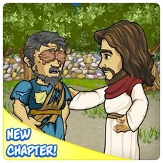 LIKE and SHARE if you LOVE JESUS!  PLAY NOW!    Sight for the Blind?  A beggar is searching for the Man that may   be able to heal his blindness.   Can you help the blind beggar find Yeshua?   Will He be able to help this poor soul on the Sabbath?
