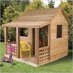I really want the kids to have a play house at the new place! But I want to put landscape around it too. Must try to build this and paint super fun colors #LandscapingAroundHouse