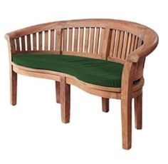 Shopisfy Water Resistant Replacement 2 Seater Banana Curved Garden Bench Cushion