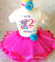 Abby Cadabby Pink Fairy  2nd Second Birthday Shirt Tutu Outfit Set Party girl #Birthday