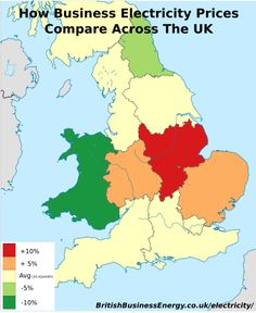 - How business electricity prices compare across the UK.