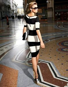 the chicest of stripes.....