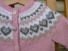 Diy Crafts - Ravelry: Baby Annabell pattern by Trine Lise Høyseth Diy Crafts Knitting, Knitting For Kids, Free Knitting, Knitting Projects, Fair Isle Knitting Patterns, Baby Cardigan Knitting Pattern, Knit Patterns, Crochet Baby, Knit Or Crochet