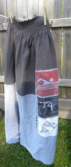 Tee Shirt Skirt Tutorial