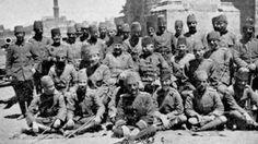 OTTOMAN YEMEN & OSMANLI YEMEN & 1890-1918 Yılları Arası Osmanlı Dönemi Yemen, San'a ve yemen bölgesi Fotoğrafları & Osmanlı Askerleri