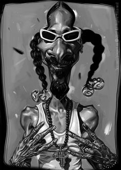 Snoop Dogg -caricature A3, digital painting