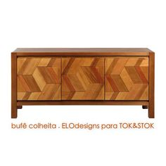 linha COLHEITA: LEO vasconcellos e ELOdesigns para TOK&STOK. BUFFET 3 PORTAS. a78,5/f171/p50cm  #colheita #tokstok