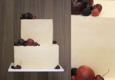 Rustic square cake // Fonderia Dolci & Design