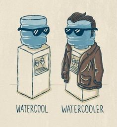 Which Water Cooler is coolest? Funny Meme Pictures, Funny Captions, Funny Images, Random Pictures, Funny Videos, Punny Puns, Image Blog, Funny Illustration, Art Illustrations