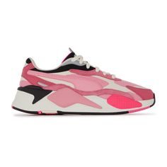 Baskets Puma RSX3 Puzzle rose disponibles sur girlsonmyfeet.com, click to shop 🔗