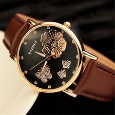 $5.39 (Buy here: https://alitems.com/g/1e8d114494ebda23ff8b16525dc3e8/?i=5&ulp=https%3A%2F%2Fwww.aliexpress.com%2Fitem%2F2016-New-Fashion-Women-Wristwatches-Butterfly-Flower-Bling-Genuine-Leather-Quartz-Watch-Wedding-Wrist-Watch-Women%2F32749267762.html ) 2016 New Fashion Women Wristwatches Butterfly Flower Bling Genuine Leather Quartz-Watch Wedding Wrist Watch Women montres femme for just $5.39