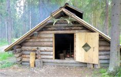 Traditional Finnish 'laavu' or wilderness shelter. A place for hikers to stay overnight or just prepair some food and rest.