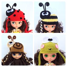 Miss Doolittle's is excited to introduce our line of crochet hats for Blythe dolls available at http://www.missdoolittles.etsy.com/