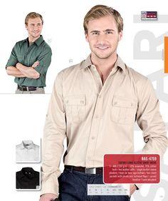 US Basic - Safari Long Sleeve Shirt - MEN Shirt Men, Safari, Long Sleeve Shirts, Mens Tops, Clothes, Fashion, Outfits, Moda, Clothing