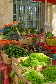 Market, Aix-en-Provence, France Fresh Fruits And Vegetables, Fruit And Veg, Nice France, South Of France, Aix En Provence, Provence France, Paris Country, Bouche Du Rhone, Farmers Market