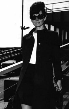 Audrey Hepburn photographed at the Orly Airport in Paris (France), during her arrival from Geneva (Switzerland), on March 26, 1968. Audrey w...