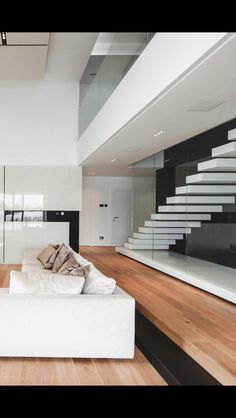 Contemporary white living space interior in your house