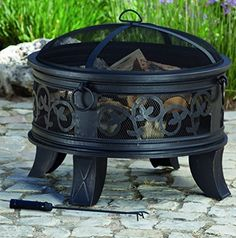 Hampton Bay Welton 34 In Round Cauldron Fire Pit Bronze