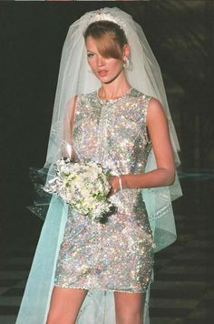 Kate Moss as the bride at Atelier Versace F/W 1996 - Chic as Fuck.