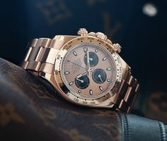 Rolex Daytona Everose Obsessed with this watch, I want!