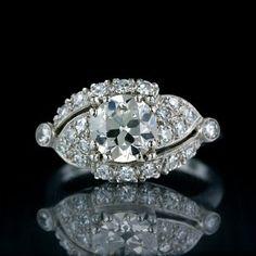 This looks like my grandmas ring.   Vintage Engagement Rings engagement rings
