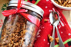 {Vegan} Holiday Gingerbread Granola - A Vegan Blogging Extravaganza at The Flaming Vegan