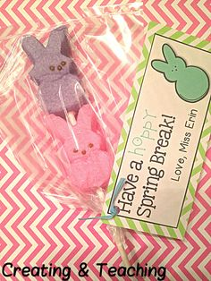 Peeps easter gift idea with free printables free printable gift creating teaching cute free printable labels for making peep popsme negle Image collections