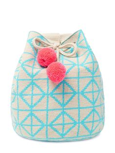 Lilla Bucket Bag by Sophie Anderson at Gilt Tapestry Bag, Tapestry Crochet, Wiggly Crochet, Knit Crochet, Crochet Crafts, Crochet Projects, Mochila Crochet, Tribal Bags, Crochet Purses