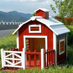 Image detail for -Dog-house plan pictures Build A Dog House, Dog House Plans, House Dog, Goat House, Farm House, Cabin Plans, Cool Dog Houses, Play Houses, Adobe Haus