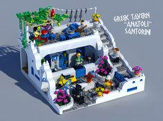 "LEGO Ideas - Greek Tavern ""Anatoli"" Santorini"