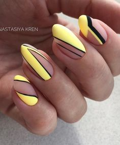 Amazing Summer Matte Nails Art Ideas - Nail Art Connect Summer means color and a fun holiday! Any nail idea can be used in the summer. Neon Nail Art, Matte Nail Art, Geometric Nail Art, Neon Nails, Yellow Nails, Nail Art Diy, Easy Nail Art, Diy Nails, Acrylic Nails