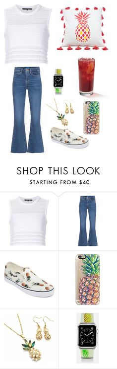 """""""Pineapple Girl"""" by nidha-h-mansoor on Polyvore featuring Thakoon, M.i.h Jeans, Vans, Casetify, LG and Southern Tide"""