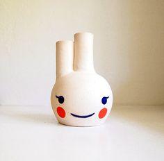 Ceramic Blushie Beastie Bud Vase by lovebugkiko on Etsy