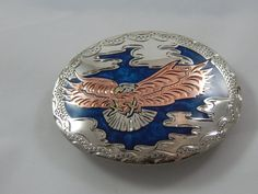 Vintage Belt Buckle with Eagle in Copper Beautiful by AlwaysPlanBVintage on Etsy
