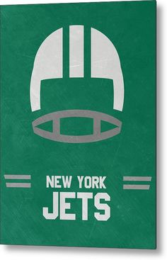 Jets Metal Print featuring the mixed media New York Jets Vintage Art by Joe…