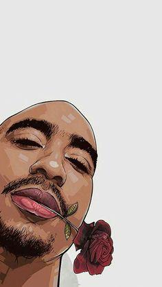Arte Do Hip Hop, Hip Hop Art, Black Love Art, Black Girl Art, 2pac Wallpaper, Urbane Fotografie, Tupac Pictures, Tupac Art, Dope Cartoon Art