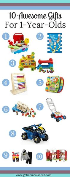 The first Christmas is amazing. This list will help you know just what to get for a those who are 1 or just around Any 1 year old will enjoy these gifts not only for the first Christmas, but for months (even years) after you give these awesome gifts! Toddler Fun, Toddler Toys, Toddler Activities, Baby Toys, Toddler Stuff, Kid Stuff, Babies First Christmas, Christmas Gifts For Kids, Christmas Treats