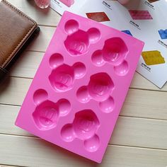 Mickey Mouse Lovely Diy Ice Cookie Cube Tray Cake Mold Silicone Baking Tool